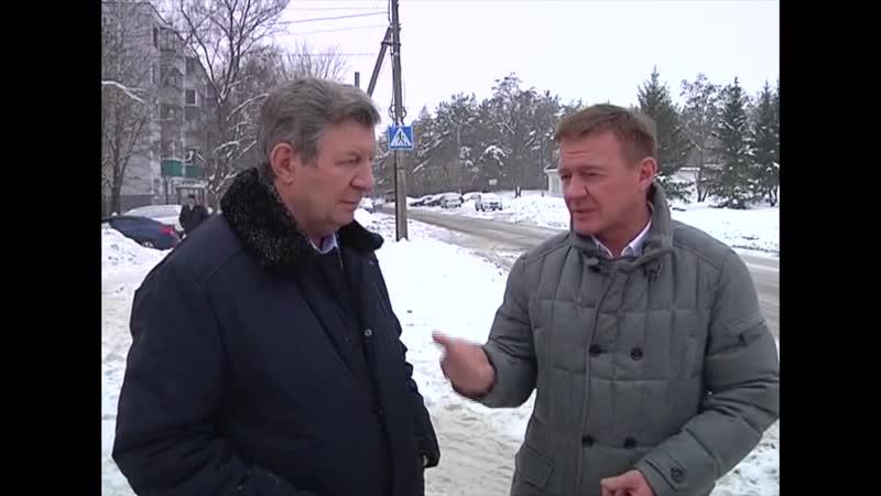 Объезд города Курска с проверкой уборки снега