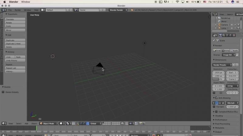 Гоша Дударь Blender 3D моделирование Урок 2 Интерфейс программы