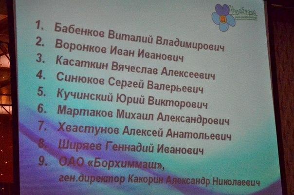 Кубок благотворителей Незабудка