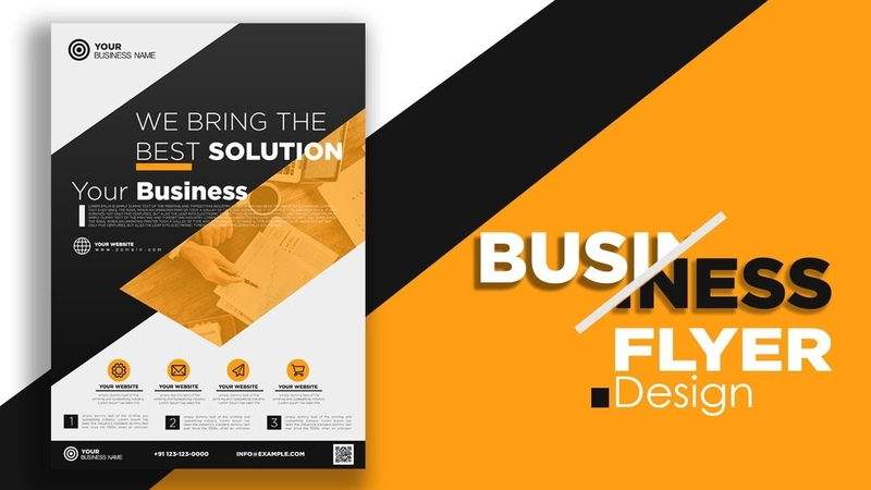 Flyer Design Business corporate Make Batter in Adobe Photoshop cc Free PSD Download