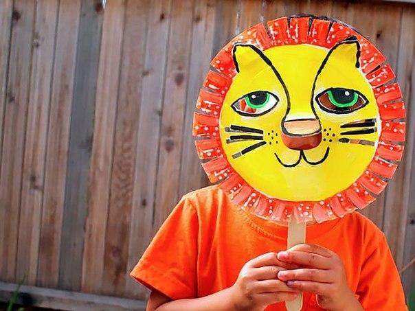 Идея для творчества с детками: делаем маску льва… (8 фото) - картинка