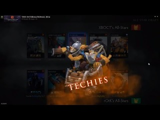 Team rOtk vs Team XBOCT TI4 All Stars Match Annonce techies Dota 2 ENG
