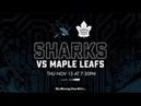 NHL 19 PS4. REGULAR SEASON 2018-2019: Toronto MAPLE LEAFS VS San Jose SHARKS. 11.15.2018. (NBCSN) !