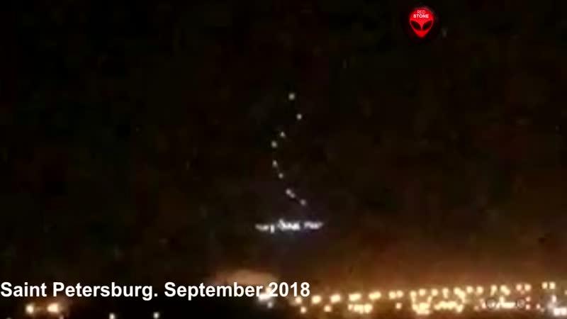 Was passiert in St Petersburg Russland Dutzende von UFO Sichtungen
