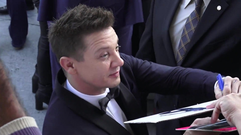 Jeremy Renner outside the TAG Premiere at Regency Village Theatre in Westwood - 07.06.2018