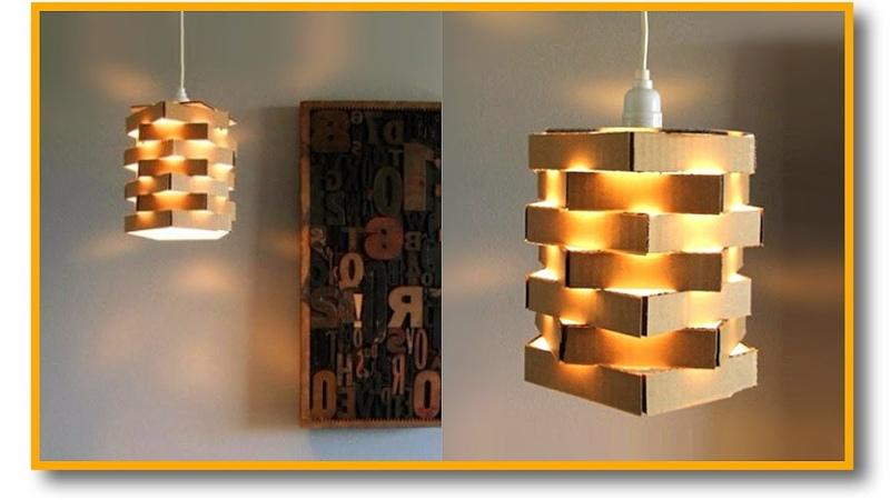¡¡Haz La Lámpara Elegante Más Fácil Del Mundo con ¿CARTÓN?!! 😄 Muy Fácil   Pablo Inventos