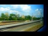 Поездка в электропоезде ЭВС1-09 «Сапсан» / Ride in fast electric train Velaro RUS