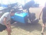 Трактор МТЗ 82 перевернулся MTZ 82 overturned