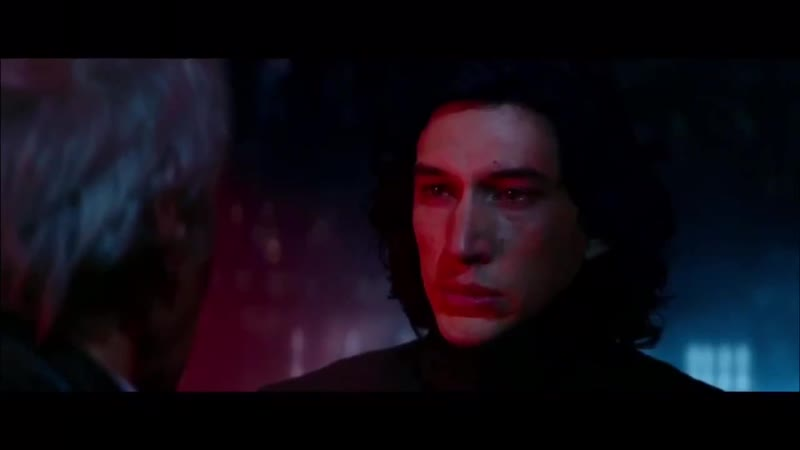 """."""" ben not wanting to kill his father VS rey giving him the strength to kill snoke."""