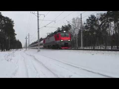 Электровоз ЭП20 004 ТЧЭ 6 со скоростным фирм поездом № 706Н Стриж Нижний Новгород Москва