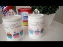 Reciclando: decoupage em latas