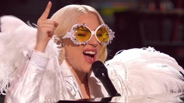 Lady Gaga - Your Song ( Elton John : 'I'm Still Standing' - A Grammy Salute)