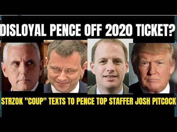 TRUMP To Drop Pence from 2020 ticket? FBI Strzok/Pence Staff texts-Giuliani fires back at Hillary