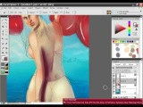 Bikini Babe Painter X painting tutorial with audio instructions Part 9/15