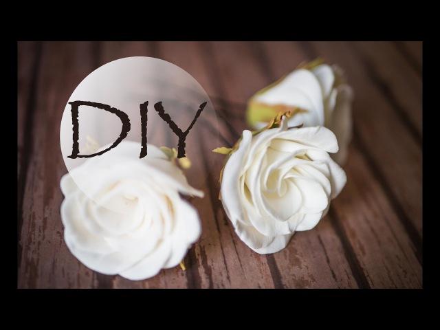 Простая роза без молда и утюга DIY TSVORIC