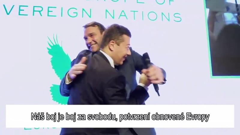 Tomio Okamura: Marine Le Pen, Geert Wilders, Tomio Okamura a naše evropská parlamentní frakce