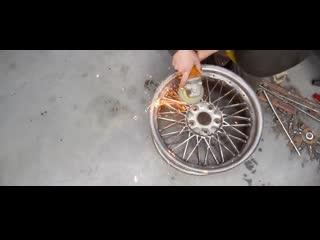 Блогеры с канала гараж 54 запилили реплику дисков bbs из штампои