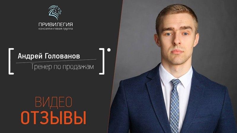 Видео отзыв Андрея Голованова. Консалтинговая компания Привилегия
