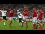Убийственный выстрел Баллака по воротам Австрии на Евро 2008