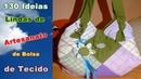 130 Ideias Lindas de Artesanato de Bolsa de Tecido | Criando Maravilhas