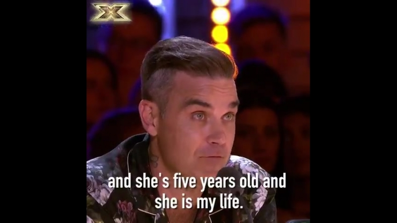 All the feels when @RobbieWilliams talks about his piano-playing daughter ️ MondayMotivation XFactor