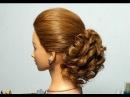 Романтическая прическа для средних и длинных волос. Romantic hairstyle for long medium hair