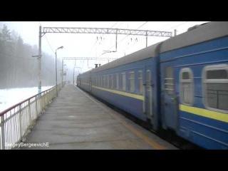 Электровоз ЧС7-066 с поездом № 41 Москва - Киев.