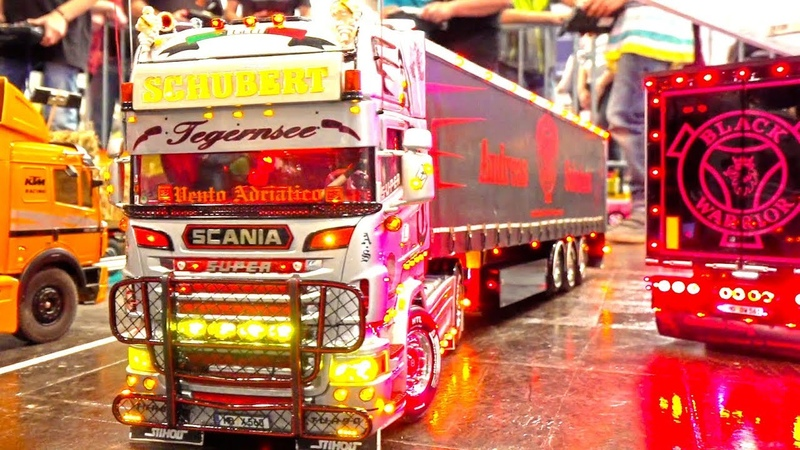 INCREDIBLE RC SHOW TRUCKS AND MACHINES I HIEGH DETAILED CONSTRUCTION MACHINERY I MODELL HOBBY SPIEL