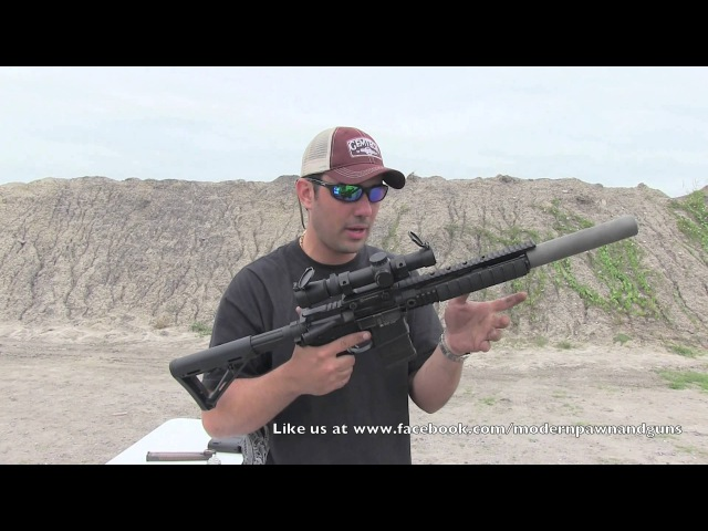 PWS MK109 300 Blackout AR15 Rifle Gemtech Sandstorm Demo Day Live Fire Review