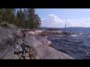Ковдозеро остров Большой Петик ветер и волны