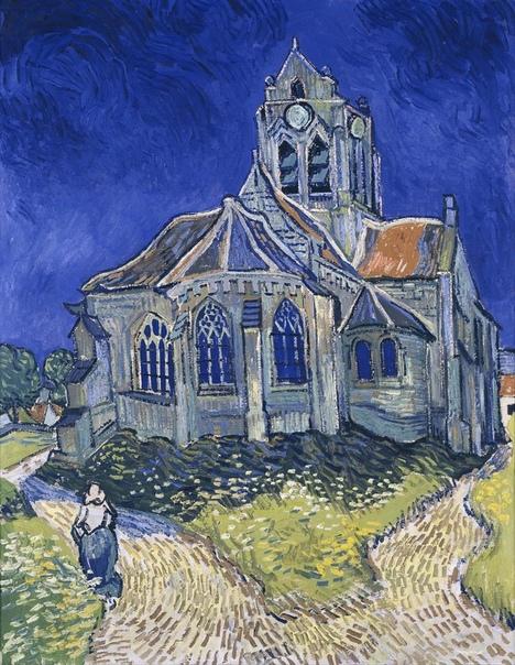 «Церковь в Овере», Винсент Ван Гог 1890г. Холст, масло. Размер: 94×74 см. Музей дОрсе, Париж В городке Овер-сюр-Уаз под присмотром доктора Гаше Винсент прожил чуть больше двух месяцев. С момента