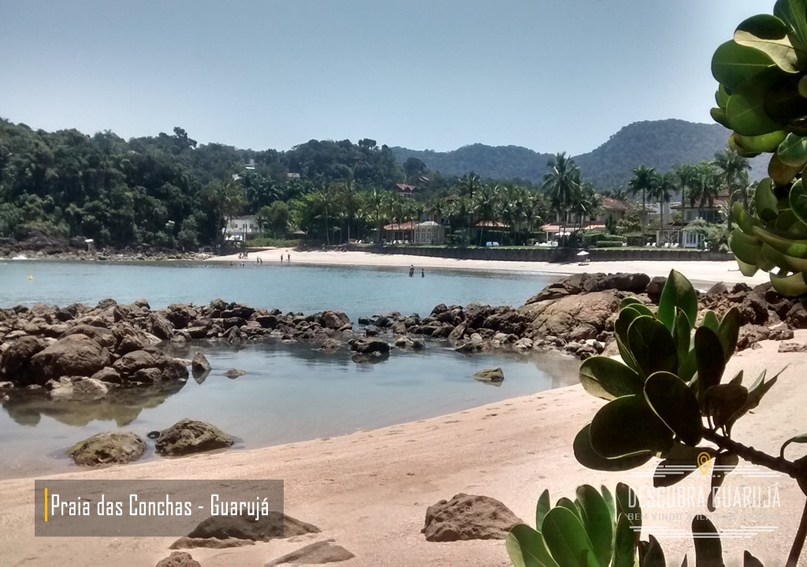 Praia das conchas em Guaruj#225;