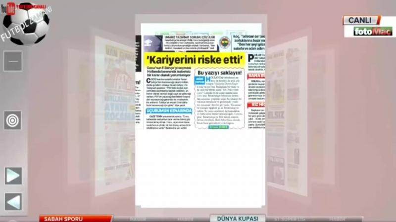 FENERBAHÇE Sabah Sporu ¦ Fhillip Cocu, Van Ginkel Yorumları 20 Haziran 2018