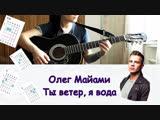 Олег Майами - Ты ветер я вода РАЗБОР НА ГИТАРЕ
