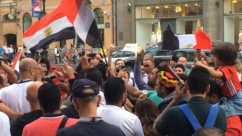 Болельщики Египта отжигают