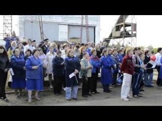 Спуск речного танкера бункеровщика 'Пятиморск' (ЯСЗ)