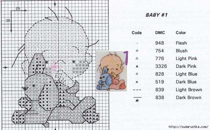 Схемы вышивки крестом детское бесплатно