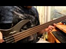 Porcupine tree's Halo fretless bass cover