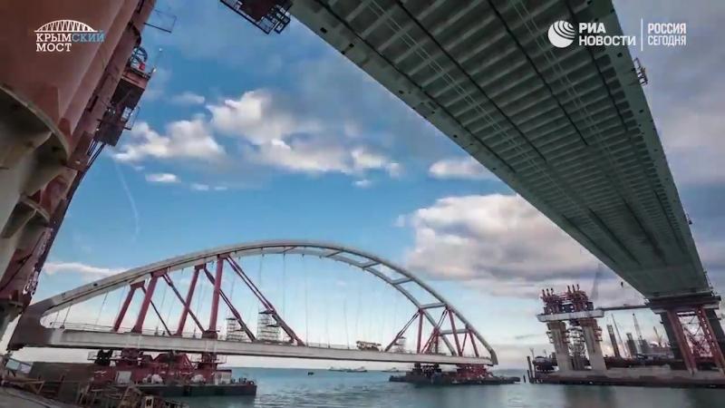Как строили Крымский мост Ускоренная видеоверсия