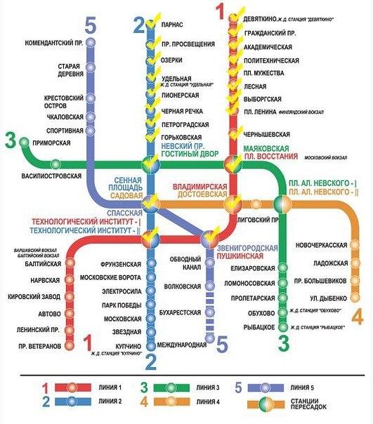 Вот тут. интерсный пост...  А еще в Петербурге открывают три новые станции метро: Спасская, Волковская и...