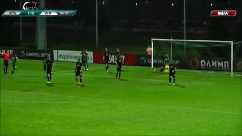 Голы в матче Краснодар 3 Ангушт 1 1
