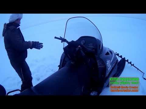 Открылся на судака по перволедью на снегоходе!!