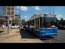 Троллейбус 83 метро Преображенская площадь Уссурийская улица 2 августа 2018