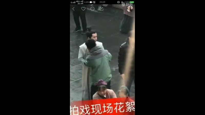 Видео от фанатов: Чжу Илун на съёмках Дочь наложницы: история Мин Лань