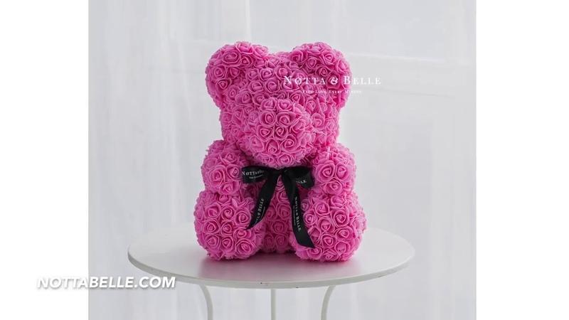 Мишки из 3D роз - подари любимому человеку незабываемые эмоции!