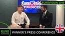 WINNER'S PRESS CONFERENCE Michael Rice Måns Zelmerlöw United Kingdom Eurovision 2019