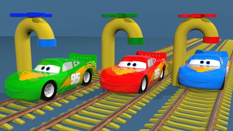Mcqueen on Train Soccer Balls Colors For Children Bonny Kids