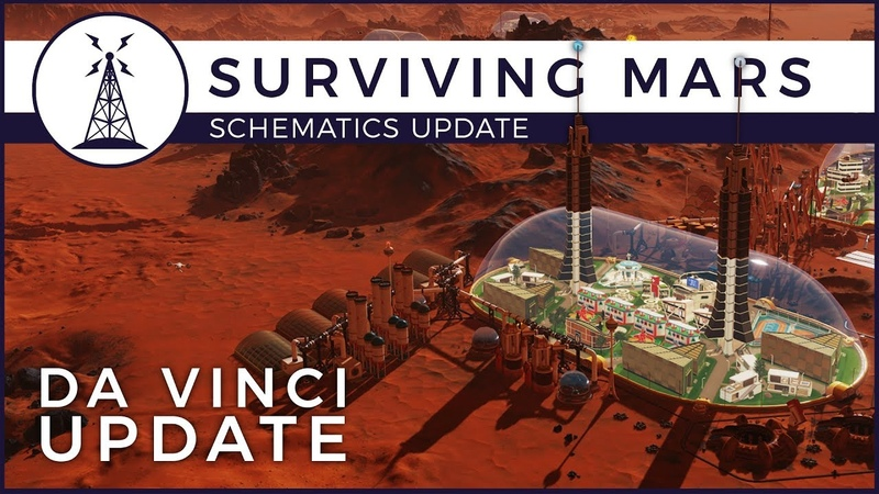 Surviving Mars - Creative Mode - Da Vinci Update | Schematics Update