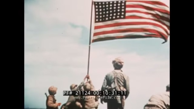TO THE SHORES OF IWO JIMA WWII COLOR FILM PERSONAL MESSAGE FROM JAMES FORRESTAL 21124