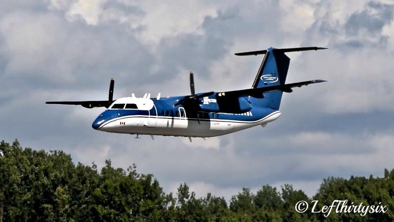 [HD] Dash DHC-8 Nav Canada two passes - Aero Gatineau Ottawa 2018
